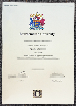 New Sample of Bournemouth University Diploma