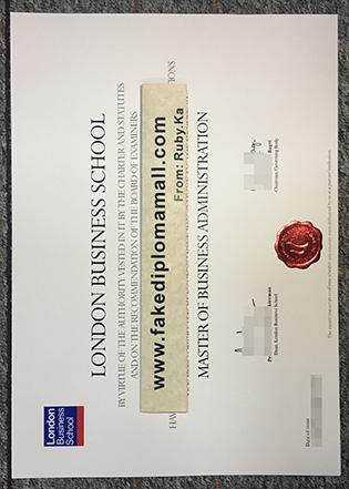 Buy London Business School (LBS) Fake Diploma Certificate