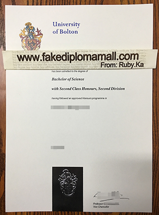 Want to Buy University of Bolton Fake Degree