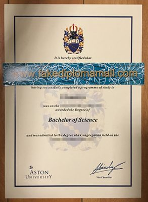Aston University Fake Diploma Selled in UK