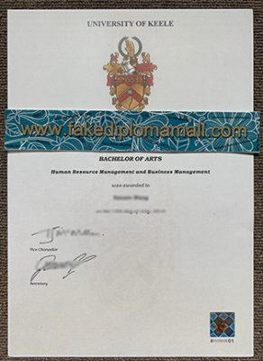Fake Diploma – University of Keele Bachelor of Arts degree