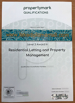 ARLA Level 3 CERTIFICATE Issued By Propertymark Qualifications