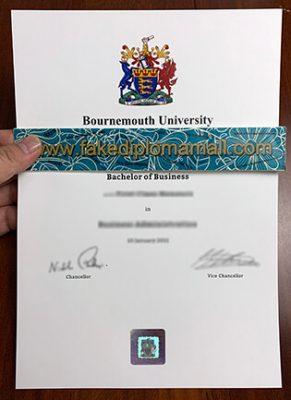 Bournemouth University Fake Degree with the Genuine Hologram