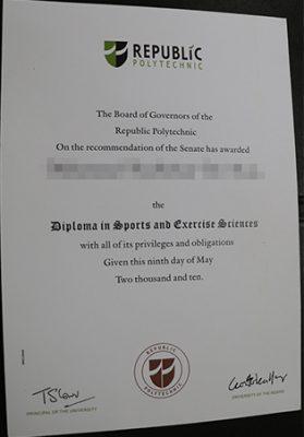 Republic Polytechnic Diploma Sample, Singapore Fake Degree