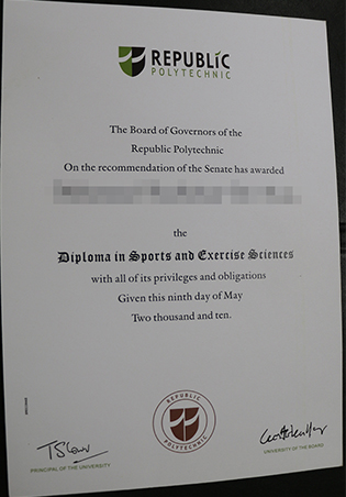 Republic Polytechnic Diploma Sample, Singapore Fake Degree