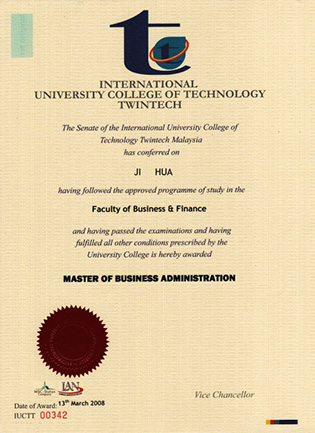 Buy IUCTT Fake Degree in Malaysia