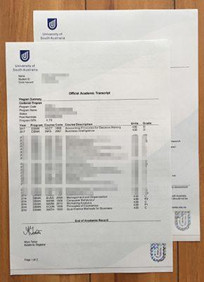 Create Your University of South Australia Fake Transcript