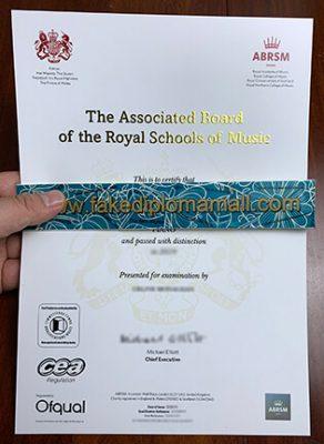Buy Associated Board Royal Schools of Music Fake Certificate