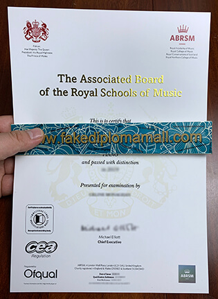 Buy Associated Board Royal Schools of Music Fake Certificate