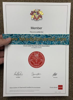 Buy ACCA Fake Certificate   Association Of Chartered Certified Accountants Membership