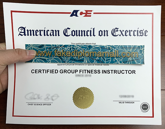 How To Get A Fake Ace Certificate In Group Fitness