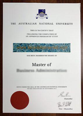 ANU Fake Degree, Australian National University Master Degree Sample