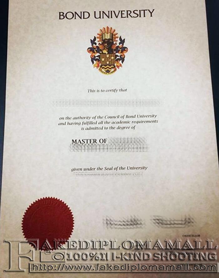 Bond University fake diploma