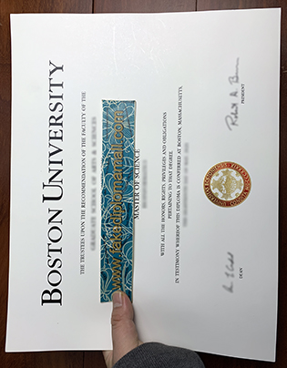 Fake Boston University Degree Sample