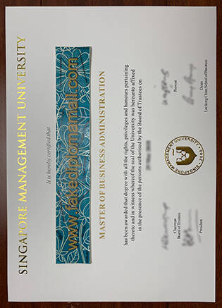 SMU Fake Degree, Singapore Management University Diploma Sample