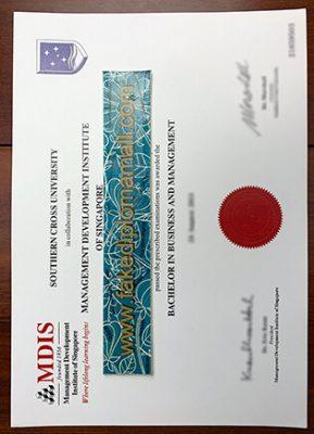 MDIS Fake Degree, Management Development Institute of Singapore Degree Sample