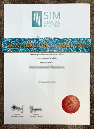 SIM Fake Degree, Singapore Institute of Management Diploma Sample