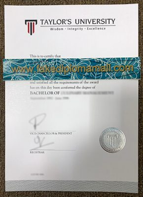 Taylor's University Fake Degree Certificate in Malaysia