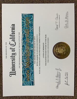 University of California Berkeley Fake Diploma Sample