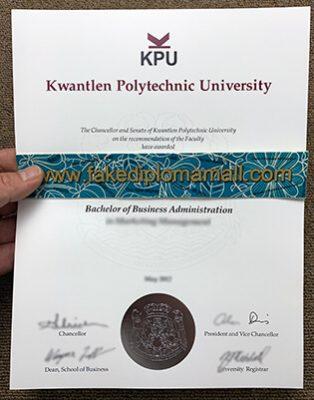 Kwantlen Polytechnic University Fake Diploma, Buy KPU Fake Diploma