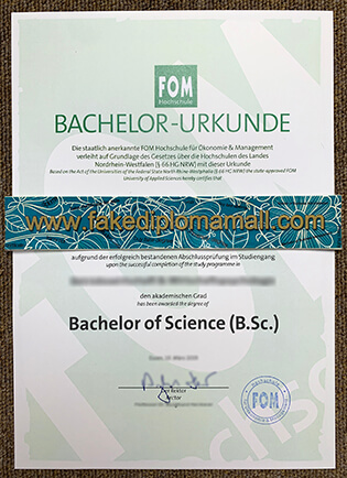 How to Duplicate FOM Hochschule Fake Degree, Buy FOM Fake Diploma