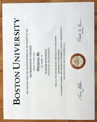 Buy BU Degree, Boston University Fake Diploma Smaple