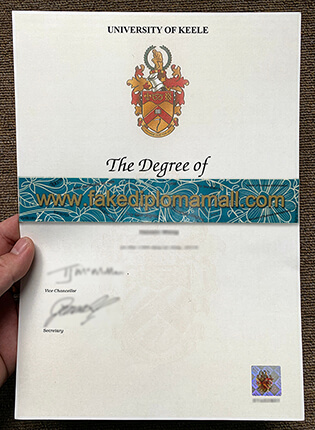 Buy The Highest Quality of University of Keele Fake Degree in UK?