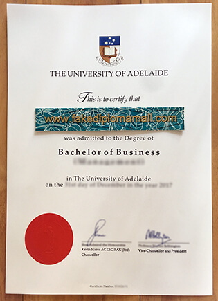 The University of Adelaide Degree Given in 2016