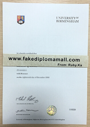 How To Buy A University of Birmingham Fake Degree?