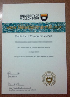 University of Wollongong Fake Diploma, Buy Australian Diploma