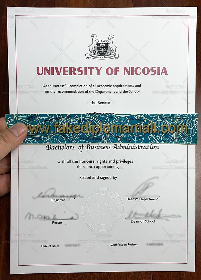 University of Nicosia fake degree
