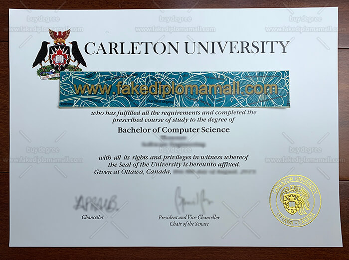 Carleton University Degree Certificate