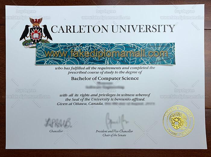 Carleton University Degree Certificate