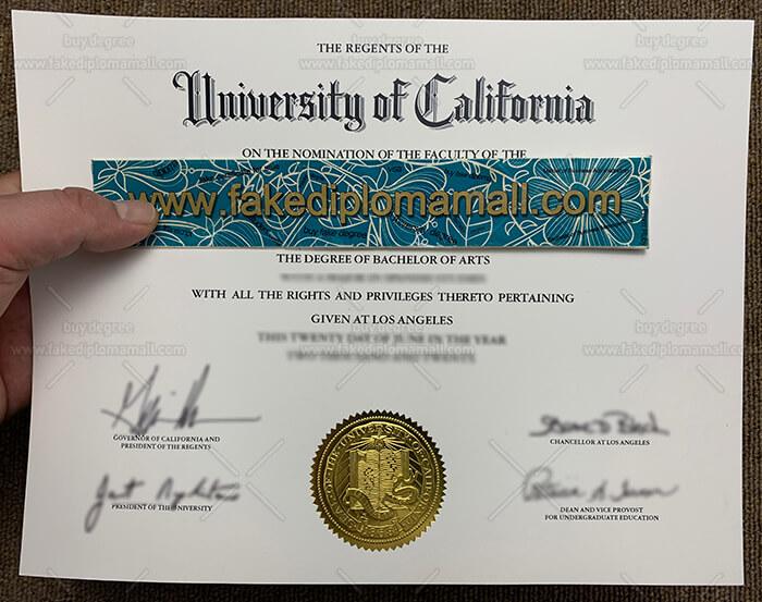 UCLA fake diploma