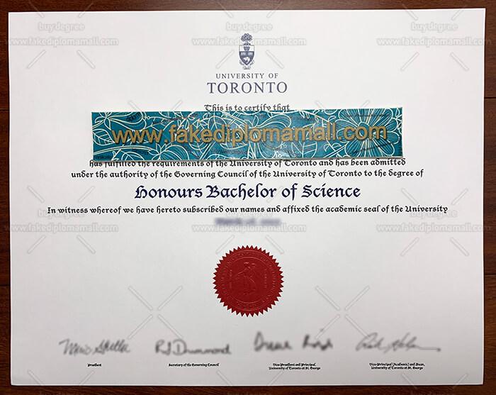 University of Toronto fake diploma