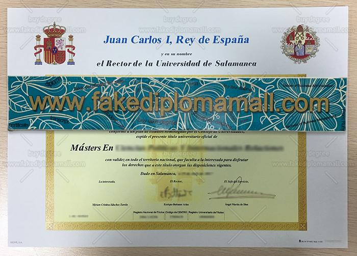 Universidad de Salamanca Diploma