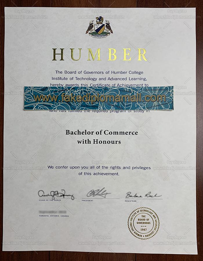 Humber College Fake Diploma