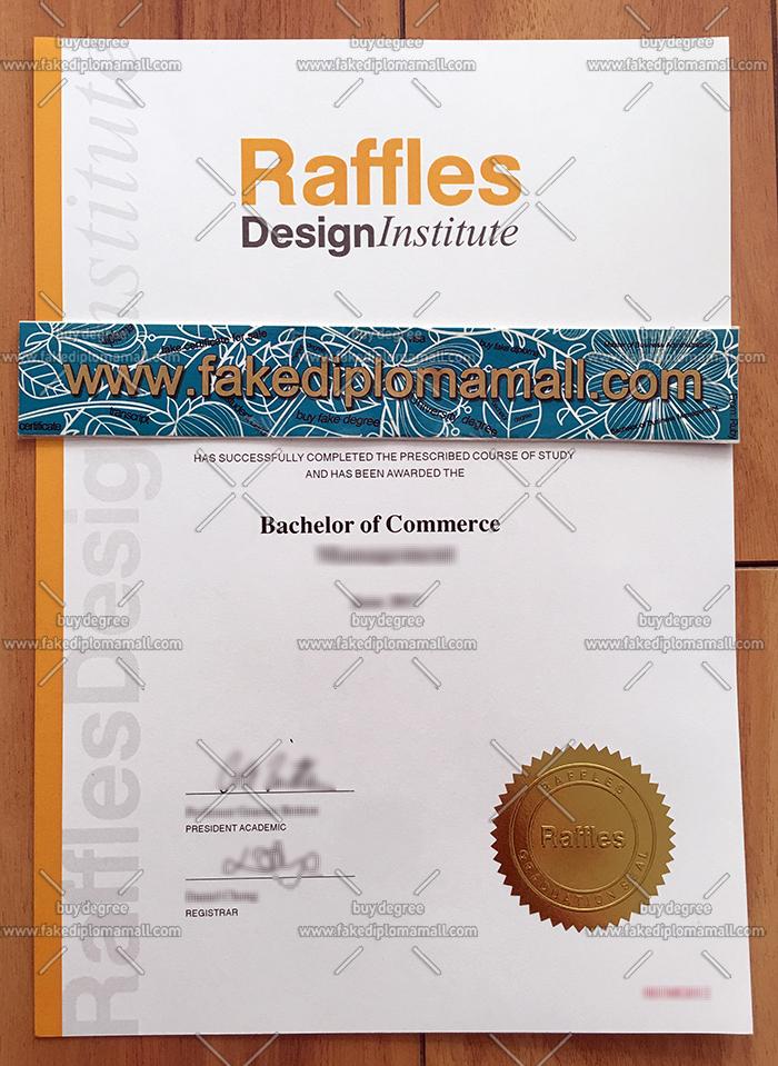 Raffles College fake diploma