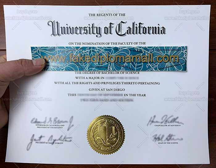 UCSD Degree Certificate