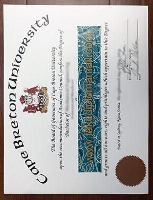 Is There Anyone Sell Fake CBU Degree online, Cape Breton University Degree