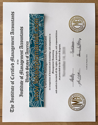 CMA Fake Certificate, Certified Management Accountant Certification