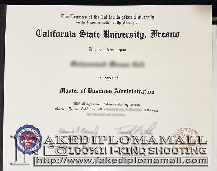 CSU Fresno Fake Diploma
