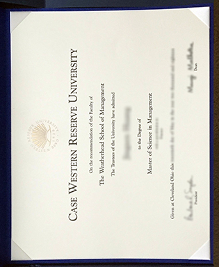Fake CWRU Diploma, Case Western Reserve University Fake Degree Sample