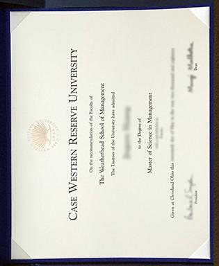 Fake CWRU Diploma, Case Western Reserve University Fake Degree Sample