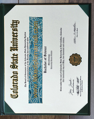 The Only Site Provides Colorado State University Fake BSc Degree Certificate