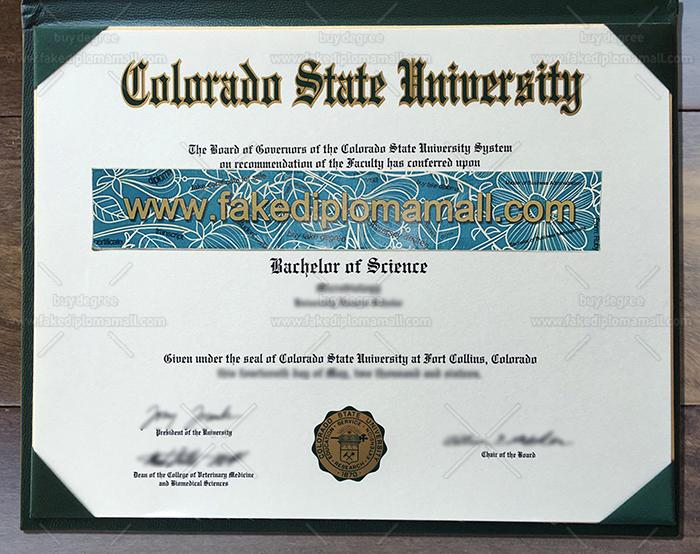 Colorado State University Fake Diploma