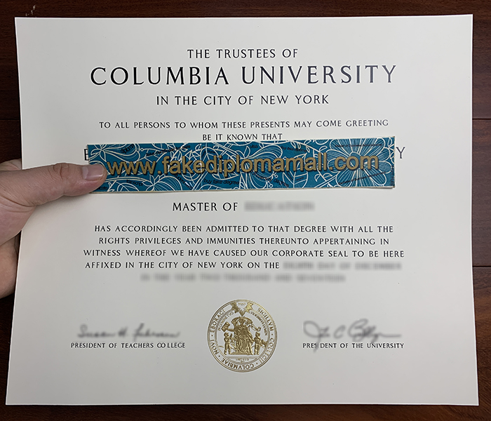 Columbia University Fake Diploma