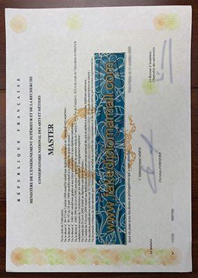 Fake Conservatoire National Des Arts Et Métiers Diploma, Faux Diplôme