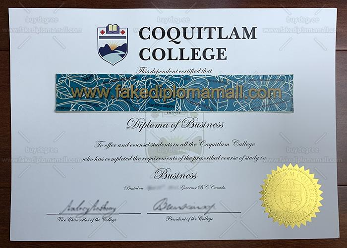 Coquitlam College Fake Diploma