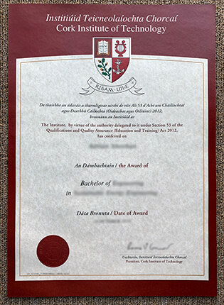 Fake CIT Diploma – Cork Institute of Technology Bachelor's Diploma From Ireland